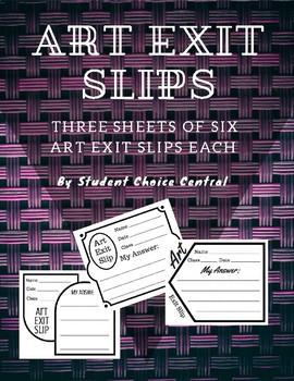 Blank Art Exit Slips