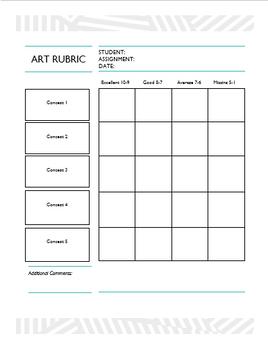 General Art Rubric