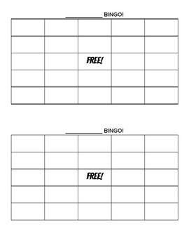 Blank BINGO Cards (2 per page)