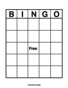 This is a graphic of Impertinent Printable Blank Bingo Board