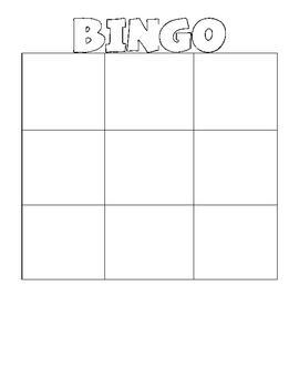 Blank Bingo Teaching Resources Teachers Pay Teachers