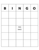 Blank BINGO editable template