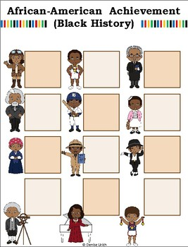 Blank BUMP Game, Spin and Cover, Roll and Cover Game Template - Black History