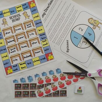 Blank BUMP Game, Spin and Cover, Roll and Cover Game Template - School Theme