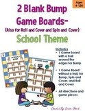 2 Blank BUMP, Spin & Cover, or Roll & Cover Game Templates