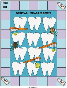 Blank BUMP Game, Spin and Cover, Roll and Cover Template - Dental Health