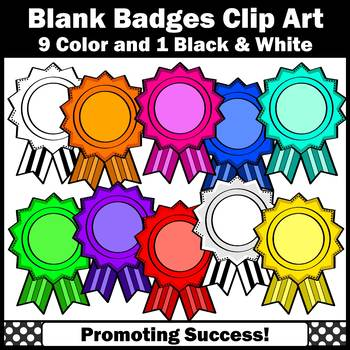 Blank Badges Clip Art Ribbon Awards Clipart Student Recognition SPS