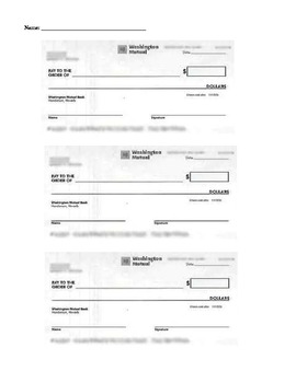 Blank Banking Forms: Checks, Deposit Slips, Registry, Reconciliation Form