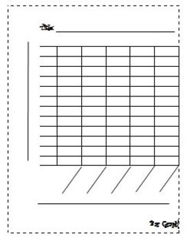 Blank bar graph by learning with leann teachers pay teachers for Temperature line graph template