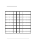 Blank Bar Graph or Double Bar Graph Template