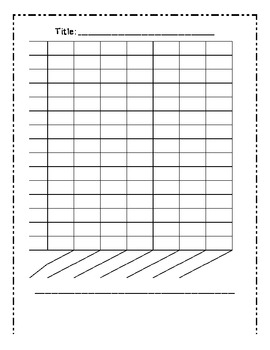 temperature line graph template - blank bar graph template 7 columns by mrs cassady tpt