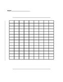 Blank Bar Graph or Double Bar Graph Template