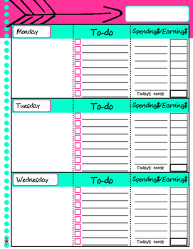 Blank Basic Agenda Pages