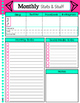 Blank Basic Agenda Pages - Month-at-a-glance