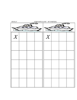 Blank Battleship Grids for Partner Verb Conjugation