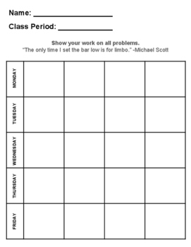 Blank Big 20 Sheet