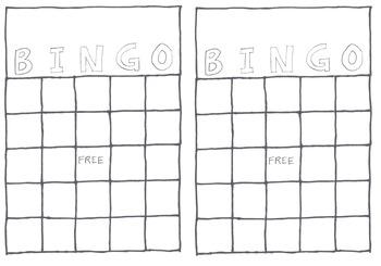 Blank Bingo 2-up on A4 size