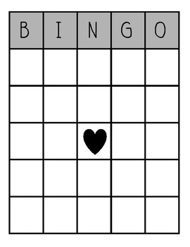 blank bingo board by katie afanador teachers pay teachers