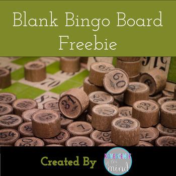 Blank Bingo Board Freebie