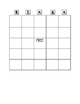 Blank Bingo Board