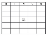 Blank Bingo Board ~ Editable