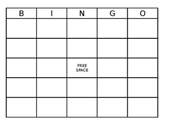 This is a graphic of Challenger Bingo Boards Printable