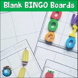 Blank Bingo Boards