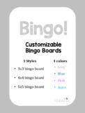Blank Bingo Boards - Customizable
