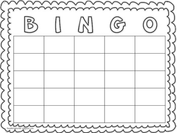 It is a graphic of Astounding Free Printable Blank Bingo Cards for Teachers