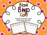 Blank Bingo Card