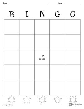 Blank Bingo Game Board