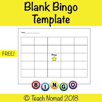 Blank Bingo Game Printable
