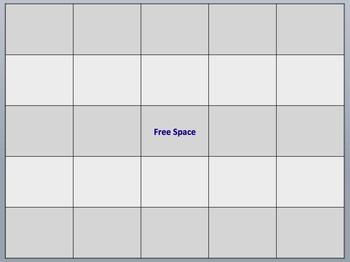 Blank Bingo Mat