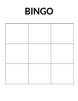 Blank Bingo Worksheets Teaching Resources Teachers Pay