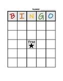 Blank Bingo Sheet