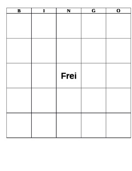 Blank Bingo Sheet1