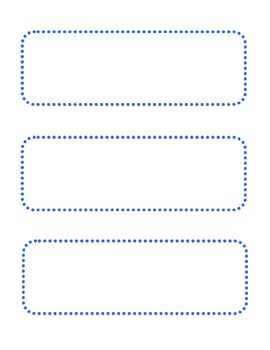 Blank Blue Dot Cards