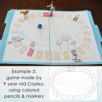 Blank Board Games - COLOR YOUR OWN! (File Folder Games)