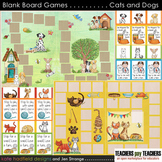 Blank Board Games - Cats and Dogs (File Folder Games)