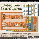 Blank Board Games - Detectives (File Folder Games)