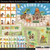Blank Board Games - Dinosaurs