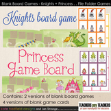 Blank Board Games - Knights and Princesses (File Folder Games)