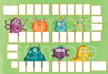 Blank Board Games - Monsters (File Folder Games)