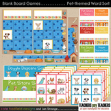 Blank Board Games - Pets Word Sort