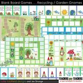 Blank Board Games - Recycling / Garden Gnomes (File Folder Games)