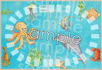 Blank Board Games - Sea Friends (File Folder Games)