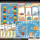 Blank Board Games - Space (File Folder Games) w/ bonus multiplication fact cards