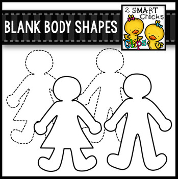 Blank Body Shapes Clip Art
