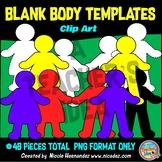 Blank Body Templates Clip Art for Teachers