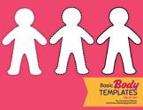 Blank Body Templates Clip Art Set